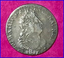 #63 Louis XIV 1/4 écu 1704 FACTURE