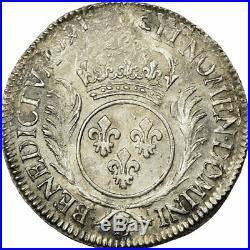 #652746 Monnaie, France, Louis XIV, 1/2 Écu aux palmes, 1/2 Ecu, 1697, Rouen