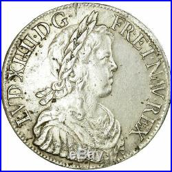 #656683 Monnaie, France, Louis XIV, Écu à la mèche longue, Ecu, 1651