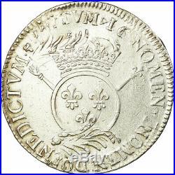 #657533 Monnaie, France, Louis XIV, Écu aux insignes, Ecu, Paris, TTB, Argent