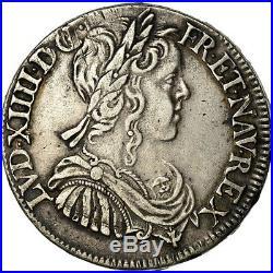 #851425 Monnaie, France, Louis XIV, 1/2 Écu à la mèche longue, 1/2 Ecu