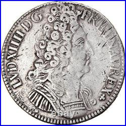 #858099 Monnaie, France, Louis XIV, Écu aux 3 couronnes, Ecu, 1709, Tours