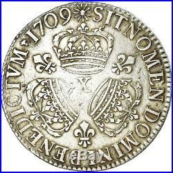 #861066 Monnaie, France, Louis XIV, Écu aux 3 couronnes, Ecu, 1709, Amiens