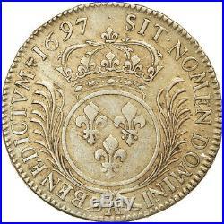 #864067 Monnaie, France, Louis XIV, Écu aux palmes, Ecu, 1697, Paris, Rare