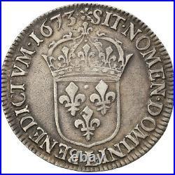 #875854 Monnaie, France, Louis XIV, 1/2 Écu à la cravate, 1/2 Ecu, 1673
