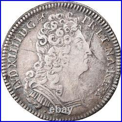 #878931 Monnaie, France, Louis XIV, 1/4 Écu de Béarn aux 3 couronnes, 1/4