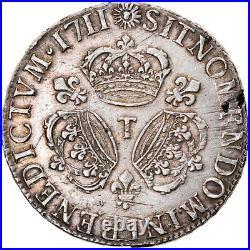 #906281 Monnaie, France, Louis XIV, Écu aux 3 couronnes, Ecu, 1711, Nantes