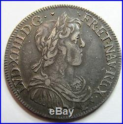 Belle monnaie Louis XIV 1/2 Ecu à la mèche longue 1649 M Toulouse