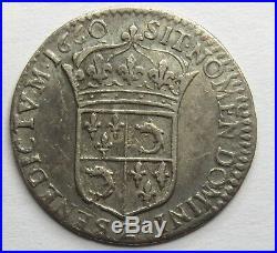 DAUPHINE 1/12° d'écu Louis XIV 1660 Z Grenoble