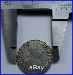 Demi Écu LOUIS XIIII 1656 L pour l atelier de Bayonne