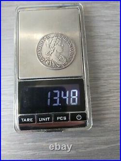 Demi Ecu Louis XIV 1645 A Paris TTB 13.48g
