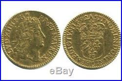 Demi Louis d'or à l'Ecu Louis XIV 1692
