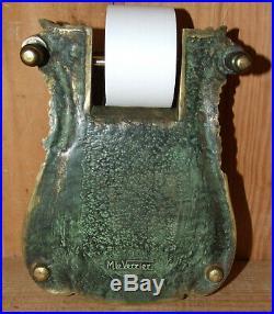 Dévidoir / écritoire en Bronze de MAX LE VERRIER écus de Louis XIV Fleurs de Lys