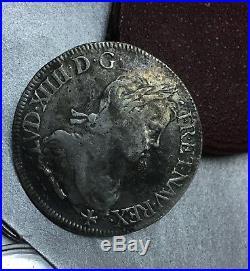 ECU a la mèche longue LOUIS XIV 1659 L BAYONNE / FRANCE ARGENT TRES RARE