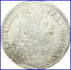EE0005 Rare Ecu 3 Couronnes Louis XIV 1710 /00 A Paris Argent F offre