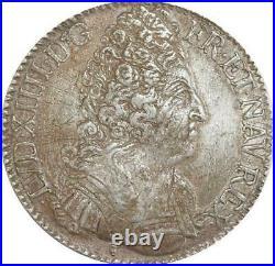 EE0014 Rare R3 Ecu 3 Couronnes Louis XIV 1710 M Toulouse Argent F offre