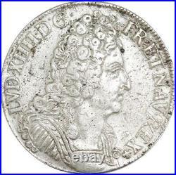 EE0035 Rare Ecu 3 Couronnes Louis XIV 1709 E Tours Argent F offre