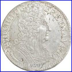 EE0036 Rare R3 Ecu 3 Couronnes Louis XIV 1713 H La Rochelle F offre
