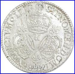 EE0043 Rare R3 Ecu 3 Couronnes Louis XIV 1712 K Bordeau Argent F offre