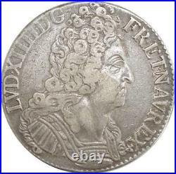 EE0044 Rare Ecu 3 Couronnes Louis XIV 1713 X Amiens Argent F offre