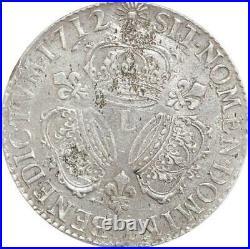 EE0048 Rare R3 Ecu 3 Couronnes Louis XIV 1712 L Bayonne Argent F offre
