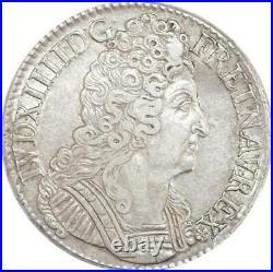 EE0049 Rare Ecu 3 Couronnes Louis XIV 1712 A Paris quasi SUP F offre