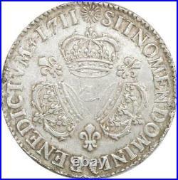 EE0051 Rare R3 Ecu 3 Couronnes Louis XIV 1711 I Limoges Argent F offre