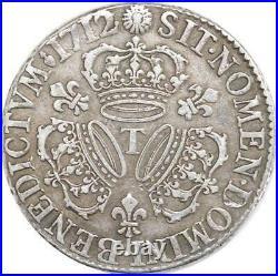 EE0053 Rare Ecu 3 Couronnes Louis XIV 1712 T Nantes Argent F offre