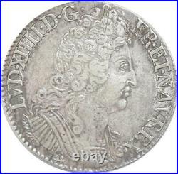 EE0055 Rare Ecu 3 Couronnes Louis XIV 1713 T Nantes Argent F offre