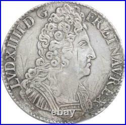 EE0059 Rare Ecu 3 Couronnes Louis XIV 1712 I Limoges Argent F offre