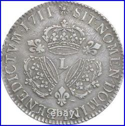 EE0061 Rare R2 Ecu 3 Couronnes Louis XIV 1711 L Bayonne Argent F offre