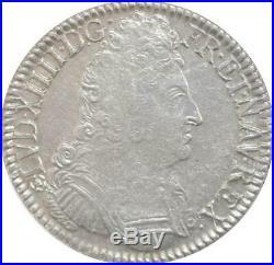 EE0064 Inédit Hybride R5 Ecu 3 Couronnes Louis XIV 1709 L Fleur