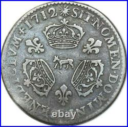 EE0096 Rare 1/10 Ecu 3 couronnes Louis XIV 1712 Vache Pau Argent F offre