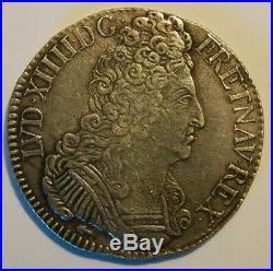 Ecu 3 couronnes Louis XIV 1709 CC rareté R3
