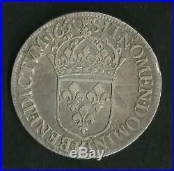 Ecu Argent Louis XIV 1650 K