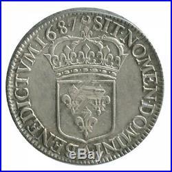 Ecu Blanc Louis XIV 1687