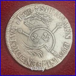 Ecu De Louis XIV Aux Insignes Reformations Flandre Aux Palmes 1701 Ttb + N° 47