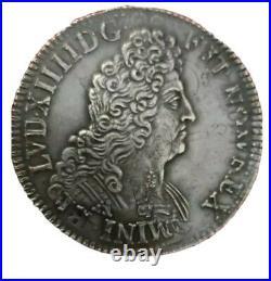 Écu En Argent Louis XIV Au 8L