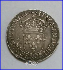 Écu Louis XIV 1649 N TTB