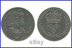 Ecu à la Mèche Courte Louis XIV 1645
