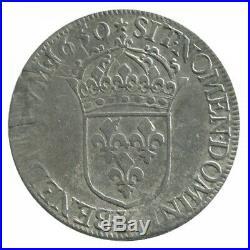 Ecu à la Mèche Longue Louis XIV 1650