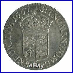 Ecu au Buste Juvénile du Béarn Louis XIV 1667