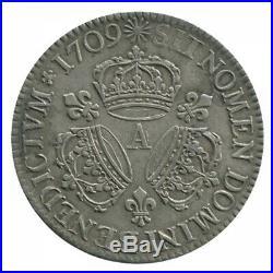 Ecu aux 3 Couronnes Louis XIV 1709