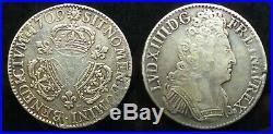 Écu aux 3 Couronnes Louis XIV 1709 M Toulouse. Cote TTB 350