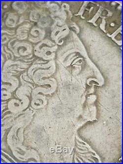 Ecu aux 3 couronnes 1711 9 Rennes Argent Silver Louis XIV R