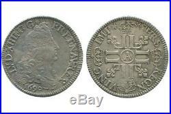 Ecu aux 8 L Louis XIV 1690