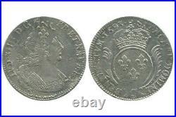 Ecu aux Palmes Louis XIV 1693