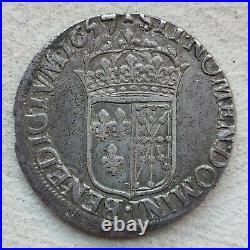 Ecu de Navarre à la mèche longue 1657 V