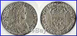 Écu + demi écu Argent Louis XIV 1652 O Riom très rare