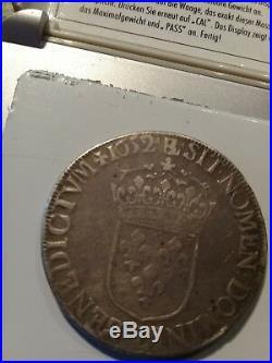 Ecu en argent 1652 b louis 14